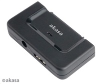 "AKASA HDD adaptér Flexstor DiskLink, 3,5"" a 2,5"" SATA HDD/SSD na USB 3.0"
