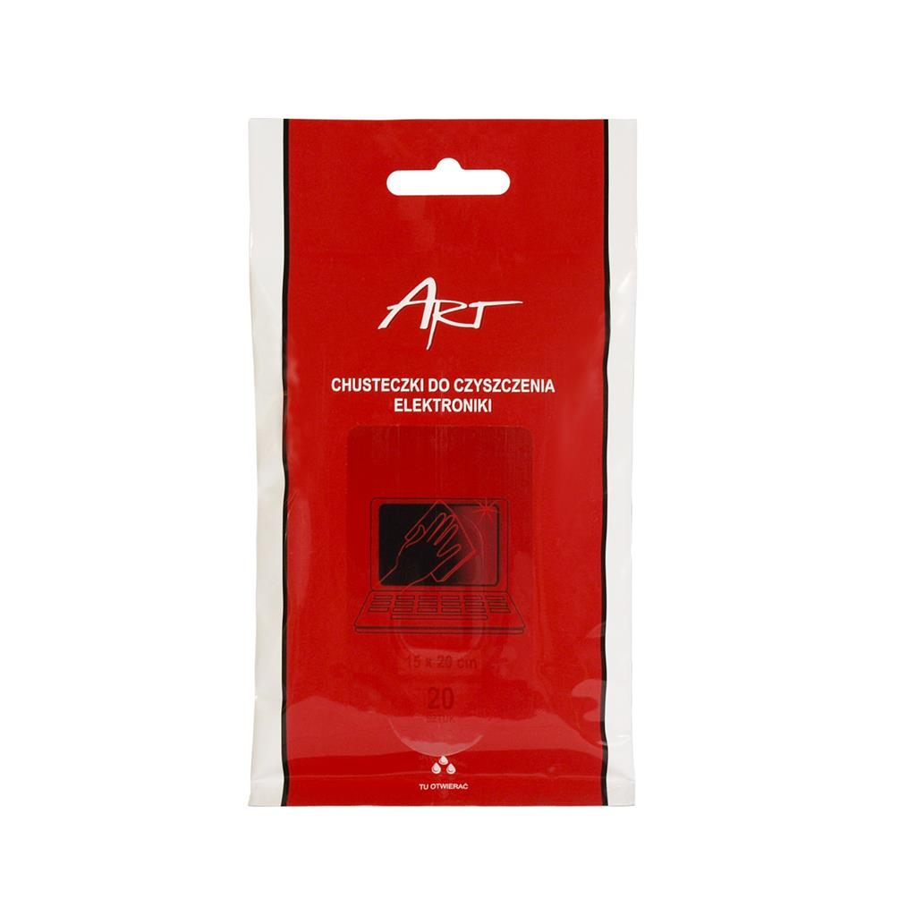 ART wet cleaner wipes for electronics (20 pcs. in the bundle)