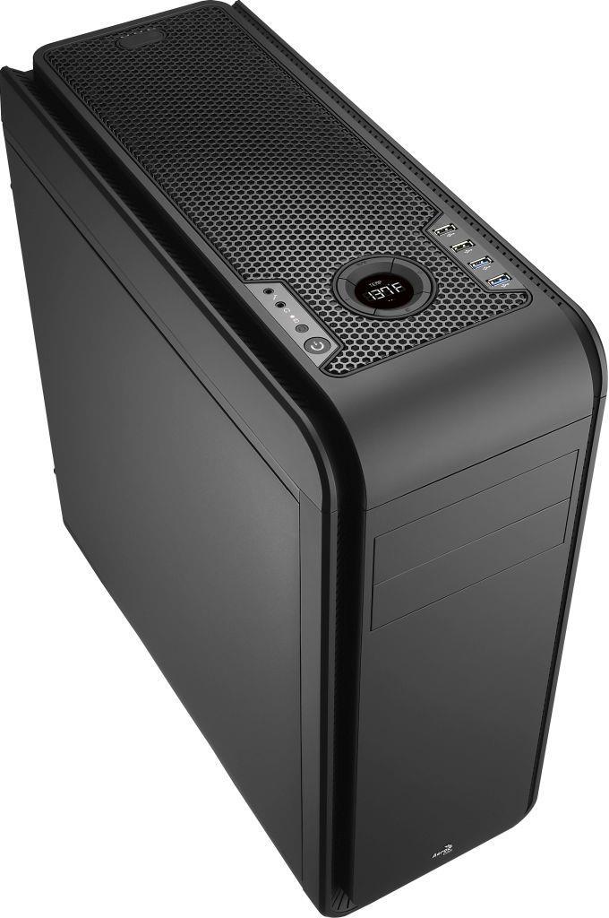 PC skříň Aerocool ATX DS 200 BLACK, USB 3.0, bez zdroje