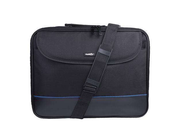 Natec IMPALA brašna pro notebook 17.3'', černo-modrá (stiff shock absorbing fram
