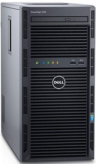 DELL PE T130/E3-1220v5/8GB/2x1TB SATA/DRW/2xGL/R0,1,5/iDrac Bas