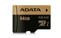 ADATA Micro SDXC karta XPG 64GB UHS-I U3 (R: 95MB / W: 90MB)