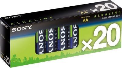 SONY Alkalické baterie AM3M20X, 20ks LR6/AA, Stamina Plus