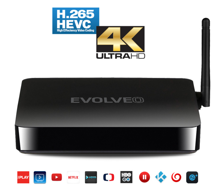 EVOLVEO ANDROID BOX Q5 4KQuad Core Smart TV box s podporou 4K videa