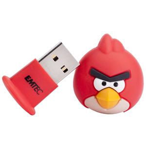 EMTEC Angry Birds Series A100 4GB USB 2.0 flashdisk (15MB/s, 5MB/s), červený