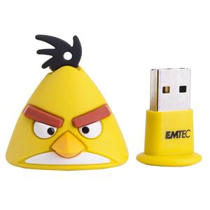 EMTEC Angry Birds Series A102 4GB USB 2.0 flashdisk (15MB/s, 5MB/s), žlutý