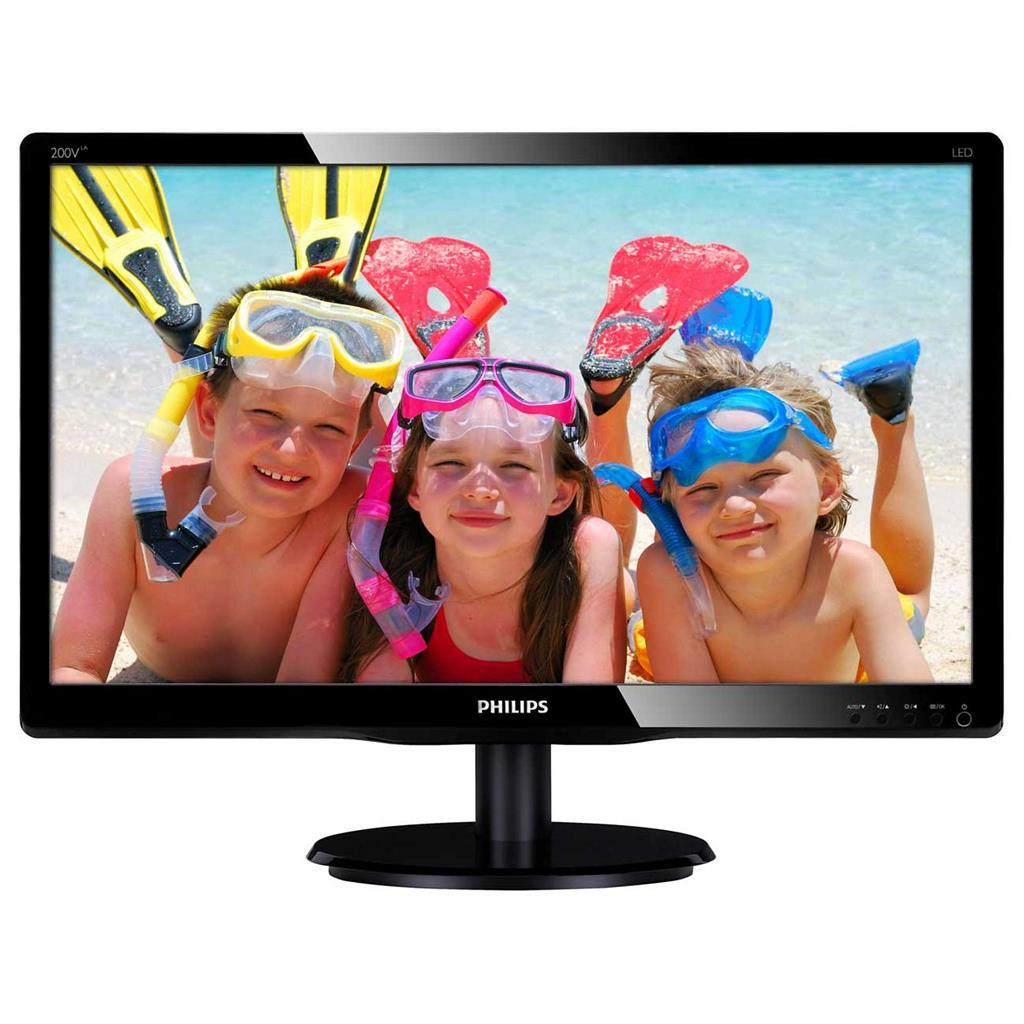 "Philips LCD 200V4LAB2/00 19,5""/1600x900/5ms/20m:1/250cd/VGA/DVI/repro/vesa"