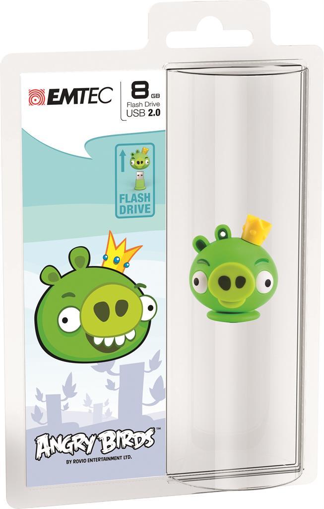 EMTEC Angry Birds Series A101 8GB USB 2.0 flashdisk (15MB/s, 5MB/s), King Pig