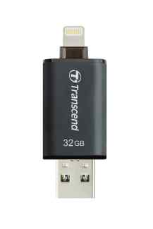 Transcend JetDrive Go flashdisk 32GB, USB 3.1, Lightning konektor, bílý