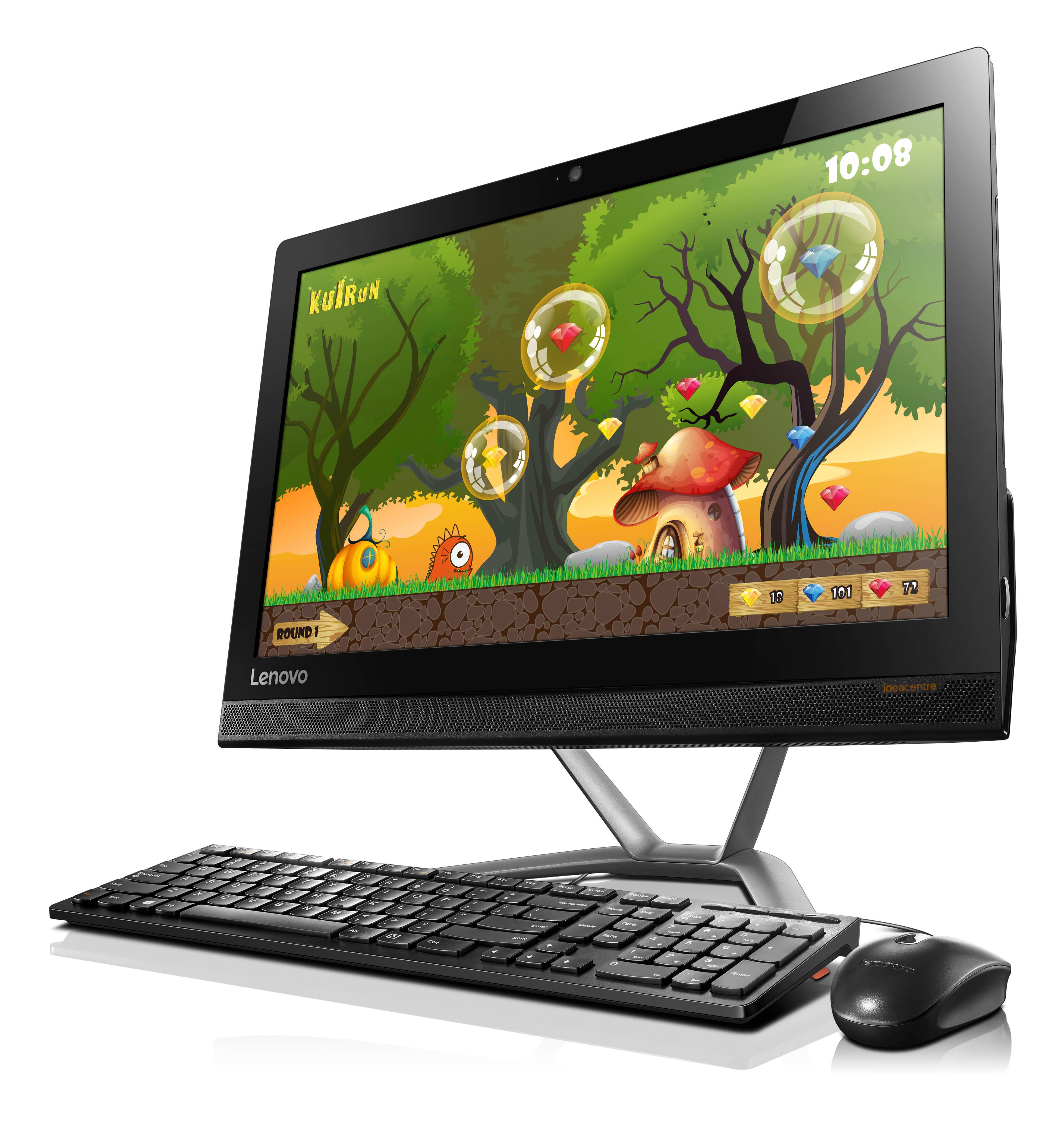 "Lenovo IdeaCentre AIO 300-20ISH Pentium G4400T 2,90GHz/4GB/500GB/20"" HD+/PLS/DVD-RW/WIN10 černý F0BV001DCK"