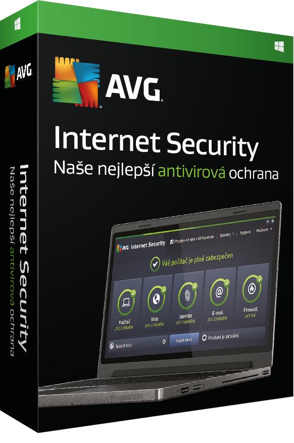 Prodl. AVG Internet Security 2016, 1 lic.(12 měs.) - krabicová licence
