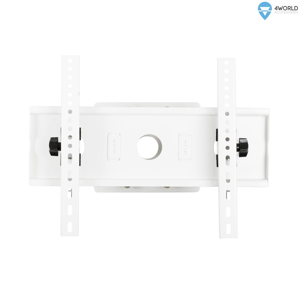 4World Otočný a sklopný držák pro LCD 25''-45'', dvouramenný, nosnost 60kg WHT