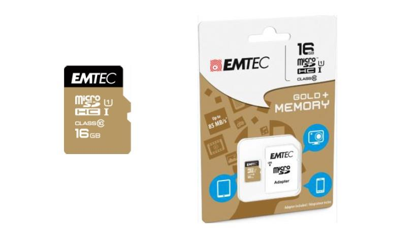 Emtec memory card microSDHC 16GB Class 10 Gold+ (85MB/s, 21MB/s)