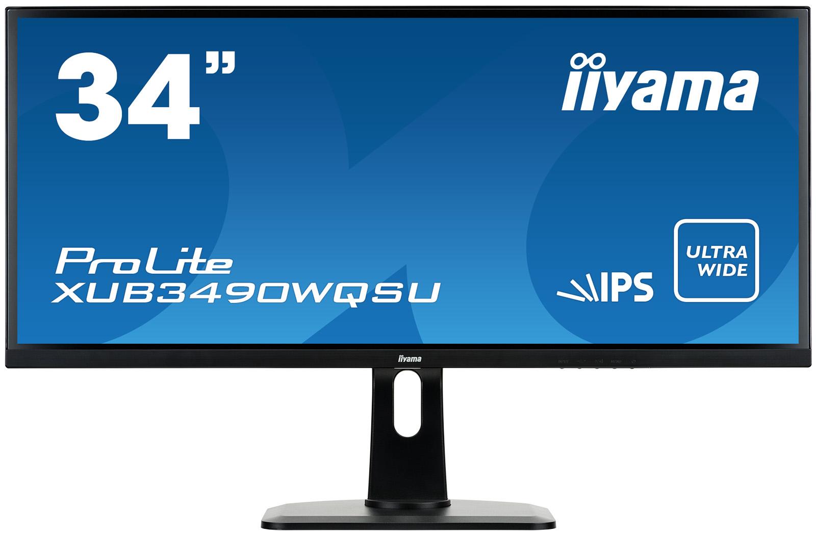 Iiyama LCD XUB3490WQSU-B1 34''LED,AH-IPS,5ms,HDMI/DP,USB,repro,3440x1440,HAS,č