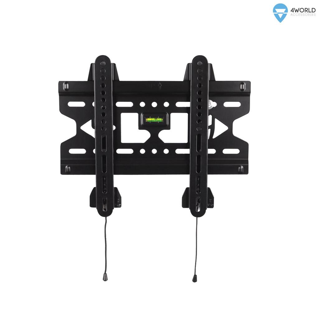 4World Fixní držák pro LCD 15''- 43'', SLIM, nosnost max. 45kg BLK