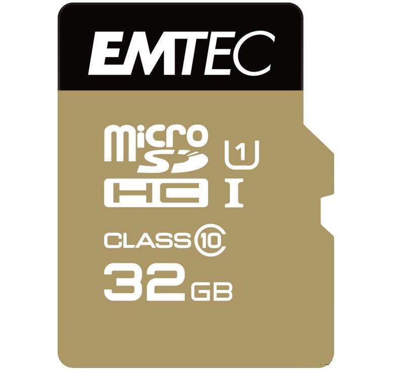 Emtec memory card microSDHC 32GB Class 10 Gold+ (85MB/s, 21MB/s)