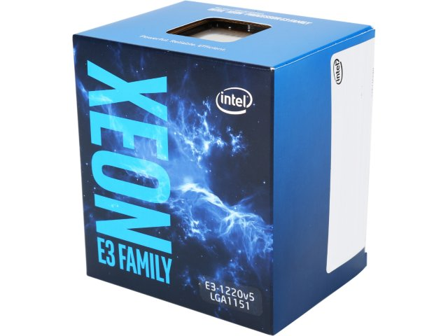 CPU INTEL XEON E3-1220v5, LGA1151, 3.00 GHz, 8MB L3, 4/4, no VGA, 80W, BOX