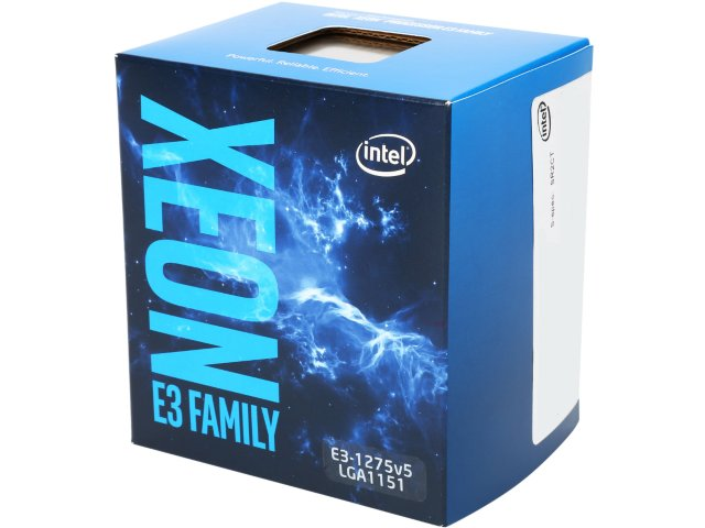 CPU INTEL XEON E3-1275v5, LGA1151, 3.60 GHz, 8MB L3, 4/8, VGA HD P530, 80W, BOX