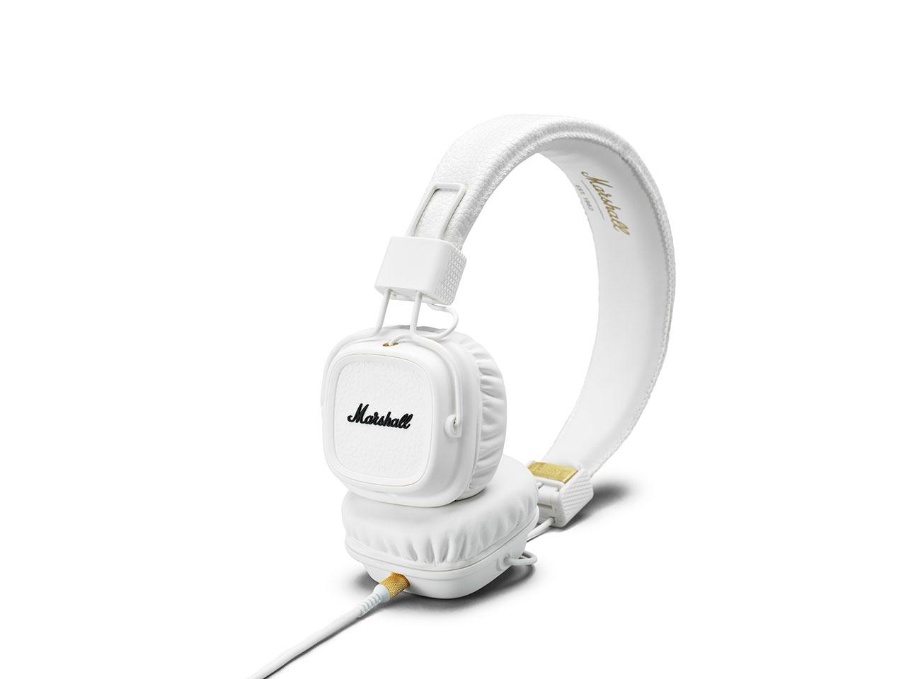 Marshall Major II White, uzavřená sluchátka s mikrofonem