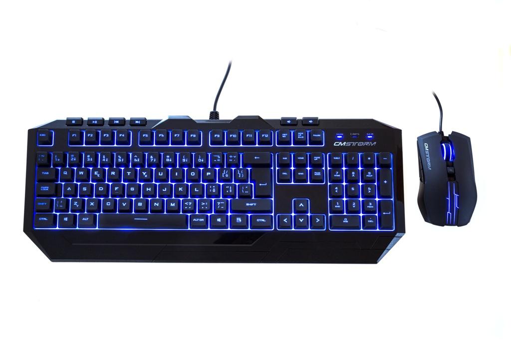 CM STORM herní klávesnice + myš Devastator, ENG verze, 2000DPI, blue LED, USB, black