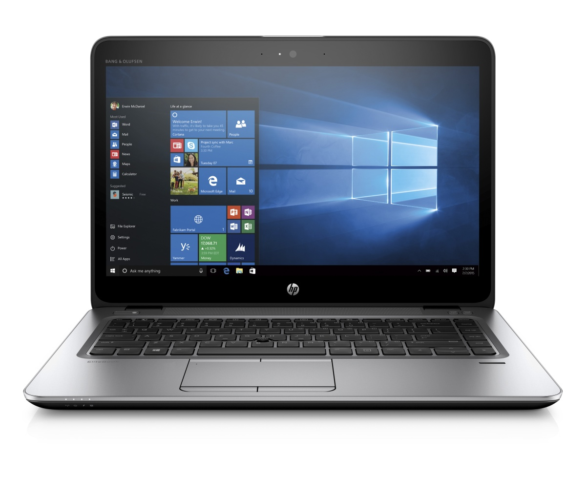 HP EliteBook 840 G3 i5-6200U 14 FHD CAM, 4GB, 256GB SSD M.2, ac, BT, FpR, backl. keyb, 3C LL batt, Win10Pro downgraded