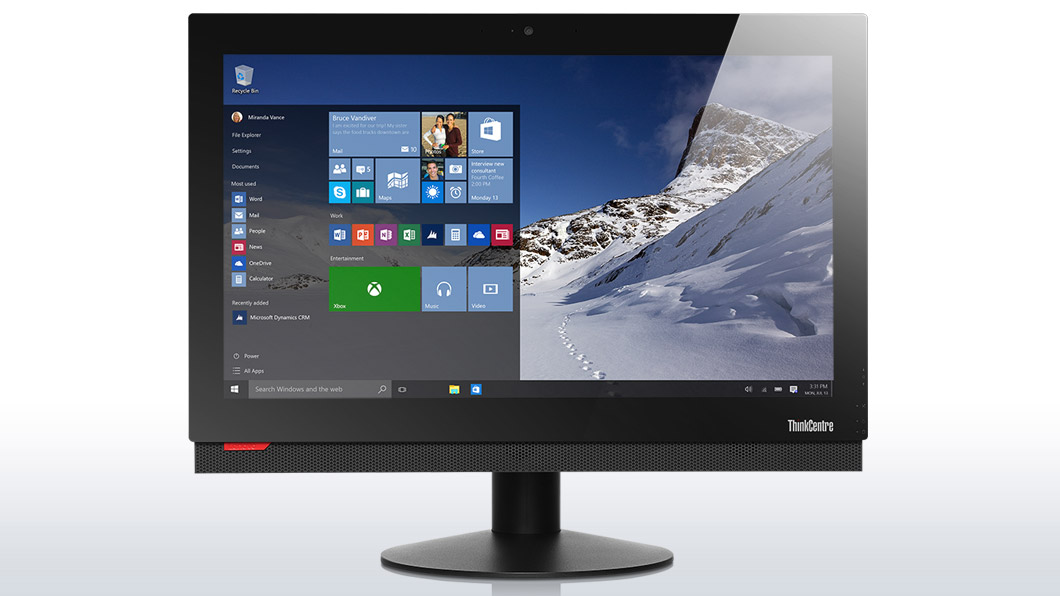 "Lenovo AIO ThinkCentre M800z 21,5"" FHD Touch/i5-6400/4GB/500GB/HD Graphics 530/DVD-RW/Win10PRO"