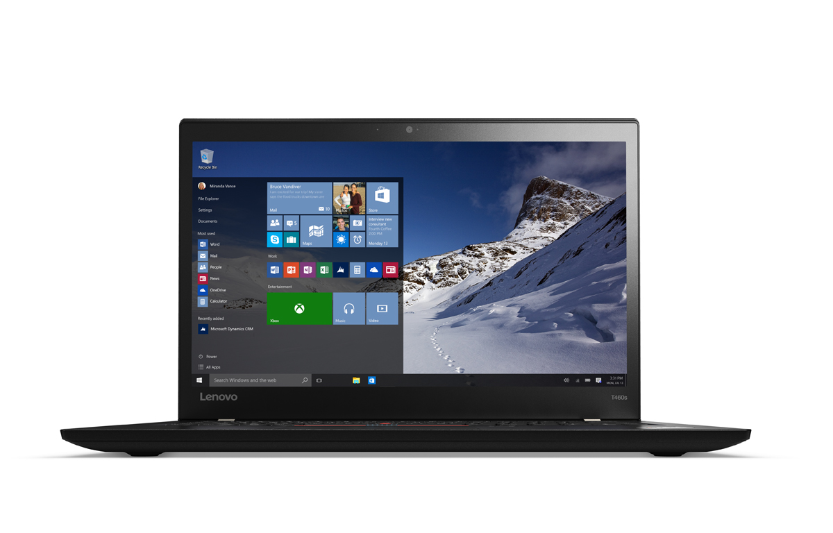 """Lenovo ThinkPad T460s i7-6600U/20GB/512GB SSD/HD Graphics 520/14""""WQHD IPS/Win7PRO+Win10PRO/Black"""