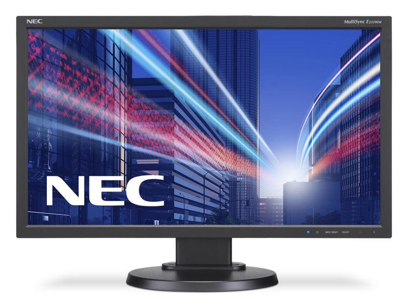 "NEC MT 23"" LCD MuSy E233WM Black W-LED,1920x1080 DP+DVI+VGA"