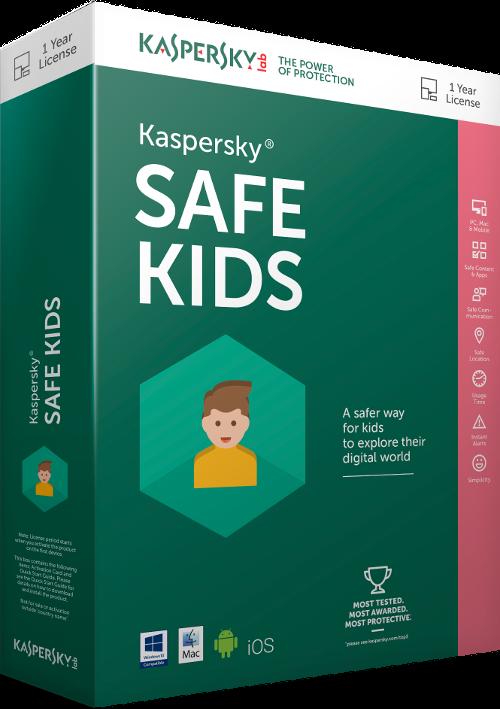 Kaspersky Safe Kids EN, 1x mobil nebo tablet, 12 měsíců - prodloužení (ESD)