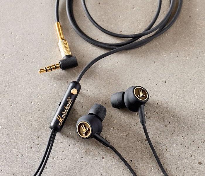 Marshall Mode EQ Black, sluchátka do uší s mikrofonem