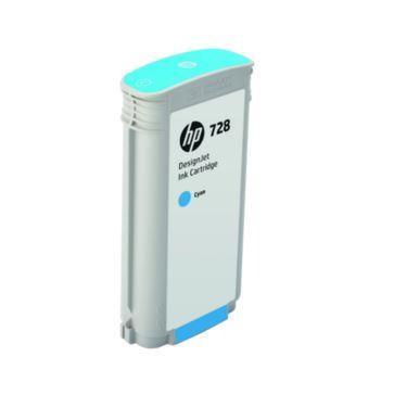 HP 728 130-ml Cyan DesignJet Ink Cartridge