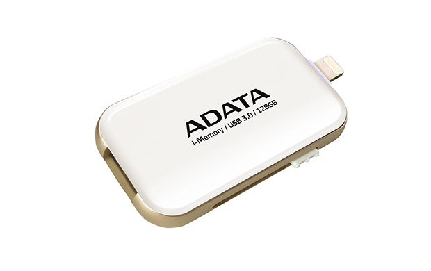 128GB ADATA UE710 USB 3.0 i-memory Apple bílá
