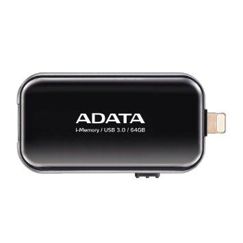 64GB ADATA UE710 USB 3.0 i-memory pro Apple černá