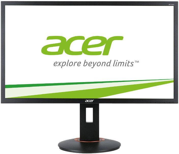 "Demo produkt Acer LCD XF270Hbmjdprz, 69cm 27"" LED/1920x1080/100M:1/1ms/DVI/HDMI/MHL/DP/Repro/AMD FreeSync 144Hz/Pivot/Black"