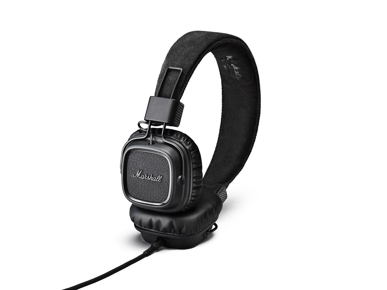 Marshall Major II Pitch Black, uzavřená sluchátka s mikrofonem