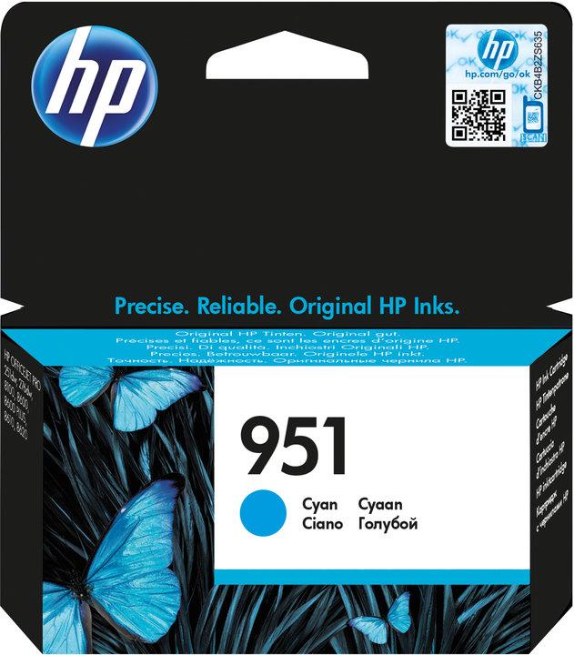 HP CN050AE Ink Cart No.951 pro OJ Pro 8610,8620, 700str., Cyan