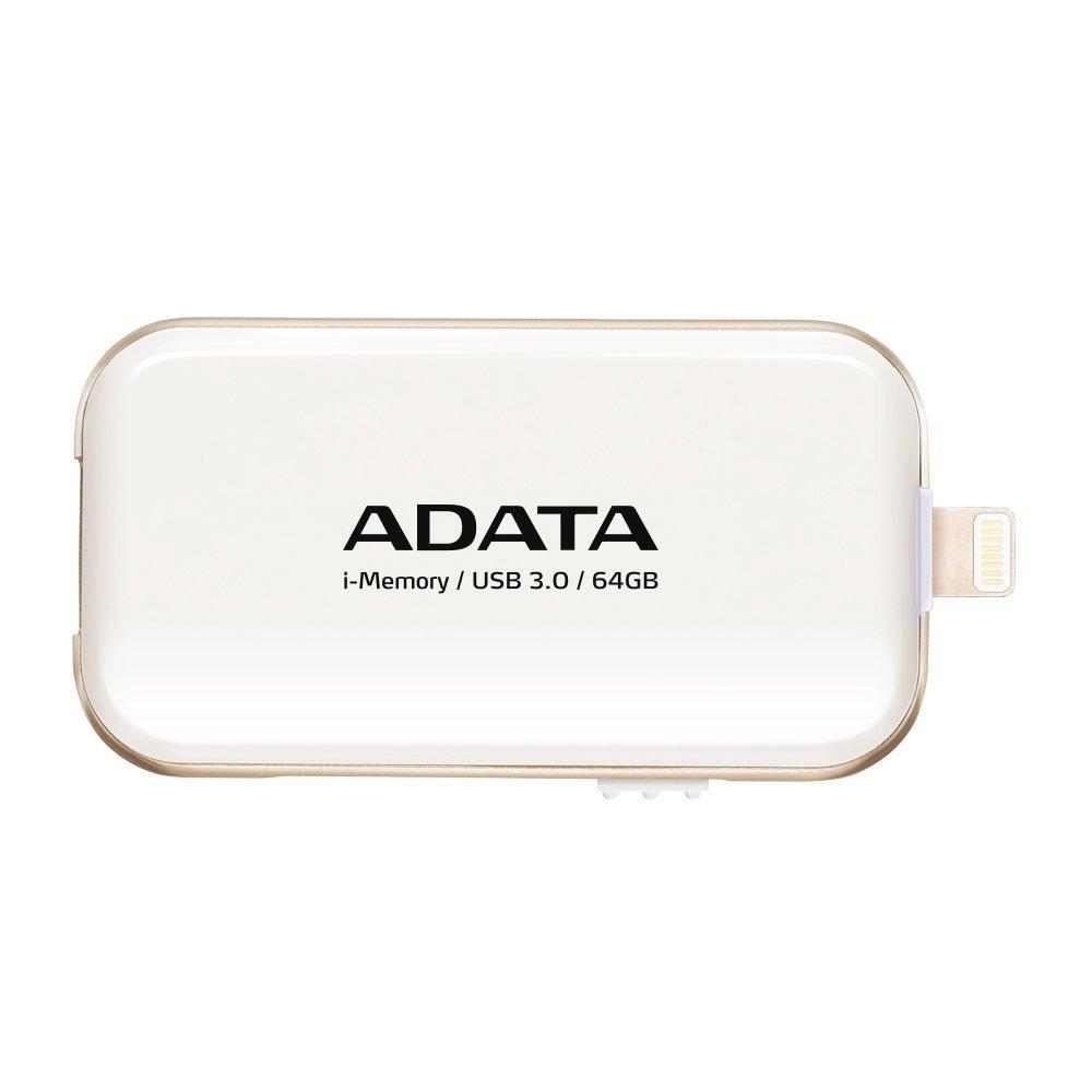64GB ADATA UE710 USB 3.0 i-memory pro Apple bílá