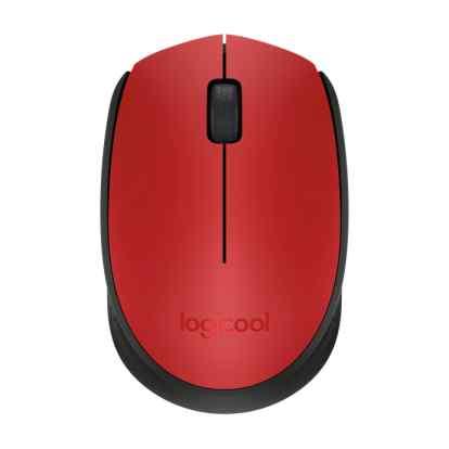 Logitech myš Wireless Mouse M171, optická, 2 tlačítka, 1000dpi, červená