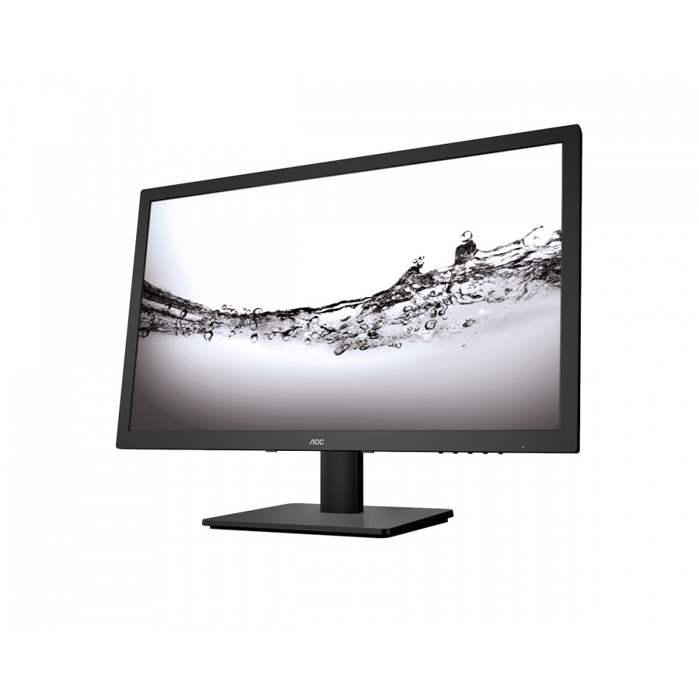 "AOC LCD E975SWDA 18.5"" TN W-LED/1366x768/1000:1/5ms/250 cd/D-SUB/VGA/DVI/Repro/Black"