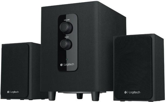 Logitech Repro Speaker Z443, 2.1, 55W RMS, 3.5mm, ovládání basů, 3,5mm, černé dřevo