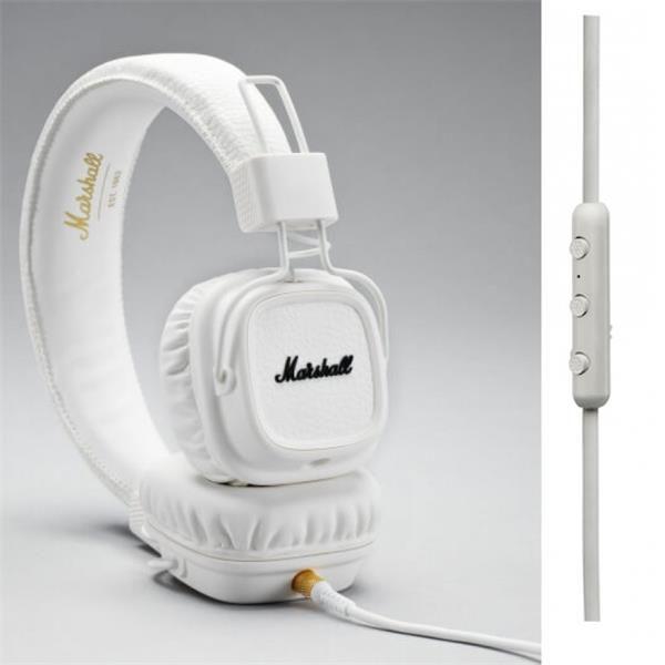 Marshall Major II White Android, uzavřená sluchátka s mikrofonem a ovladačem