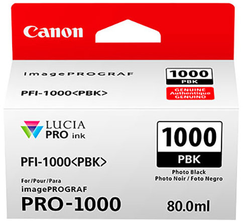 Canon cartridge PFI-1000 PBK Photo Black Ink Tank