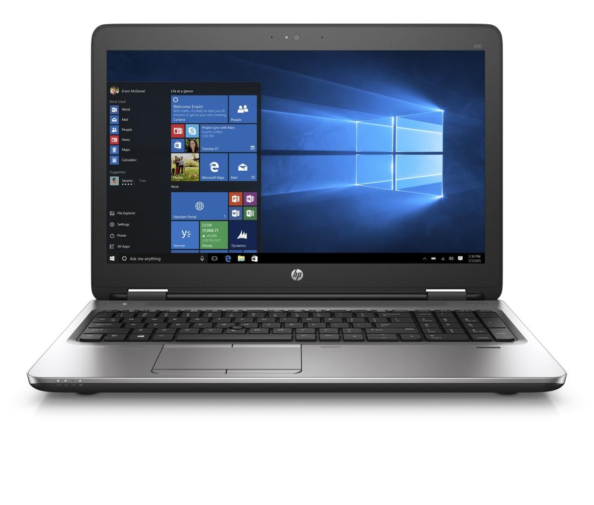 HP ProBook 650 G2 i7-6820HQ / 8GB / 512 GB SSD/ 15,6'' FHD / backlit kbd / vPro / Win 10 Pro + Win 7 Pro