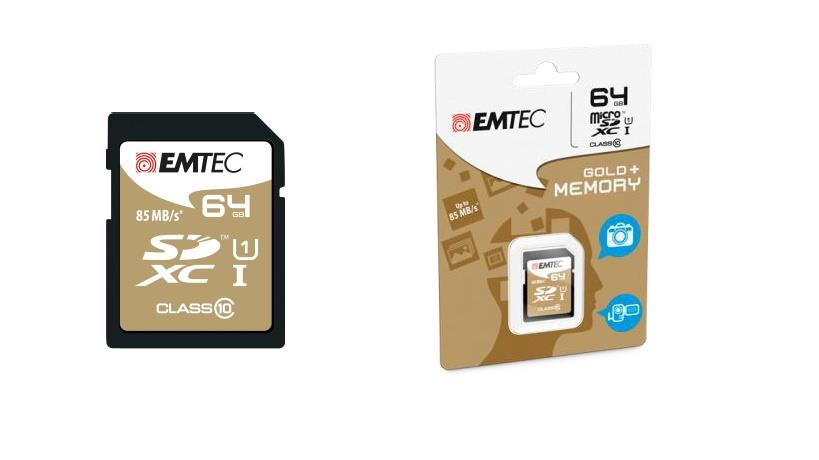 Emtec memory card SDXC 64GB Class 10 Gold+ (85MB/s, 21MB/s)