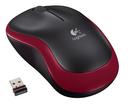 Logitech myš Wireless Mouse M185 Red