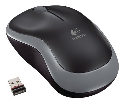Logitech myš Wireless Mouse M185 Swift Grey, nano, podpora unifying