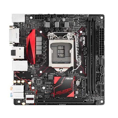 ASUS B150I PRO GAMING/AURA, 1151, B150, 2xDDR4, PCIe 3.0x16, SATAIII, USB3.0, M.2, HDMI/DVI, mini ITX