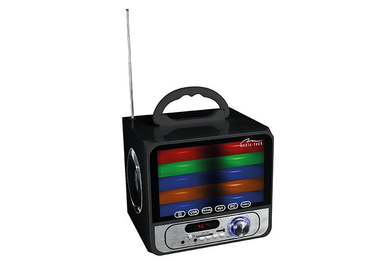 Compact speaker system MediaTech Boombox color BT MT3146, BT2.1, color led