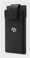 BlackBerry pouzdro kožené pro BlackBerry Leap, klip s otočným čepem, černá