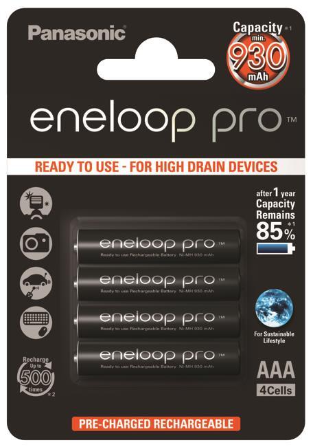 Panasonic Eneloop Pro R03/AAA 930mAh, 4 ks, Box